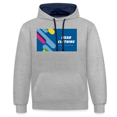 MEAH CLOTHING LOGO - Contrast Colour Hoodie