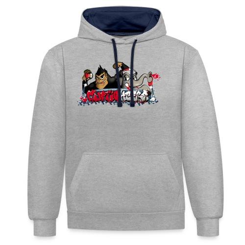 Cupfighters Rotterdam - Contrast hoodie