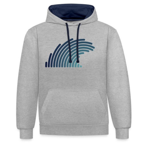 Blue Wave - Sweat-shirt contraste