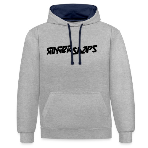 Ginger Snap5 logo (one line black) - Contrast Colour Hoodie