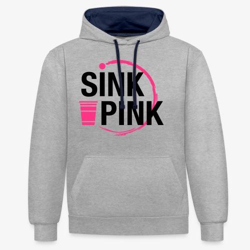 Sink Pink - Kontrast-Hoodie
