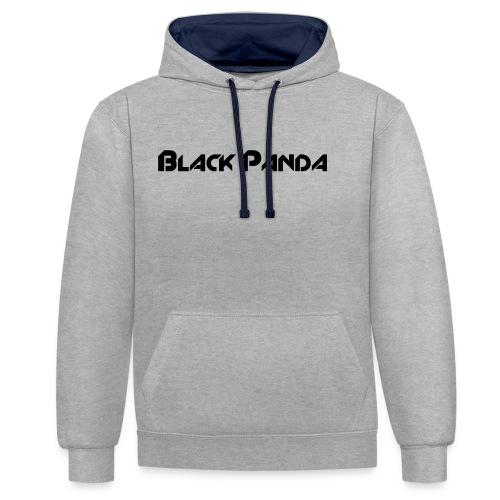 Black Panda - Kontrast-Hoodie