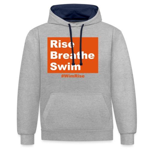 Rise Breathe Swim - Contrast Colour Hoodie