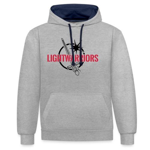 Lightwarriors Logo - Kontrast-Hoodie