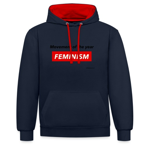 Feminism - Contrast Colour Hoodie