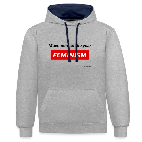 Feminism - Contrast Colour Hoodie