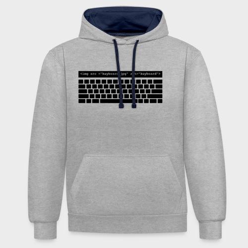 keyboard - Kontrast-Hoodie