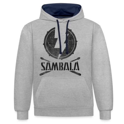Batucada Sambala - Sudadera con capucha en contraste