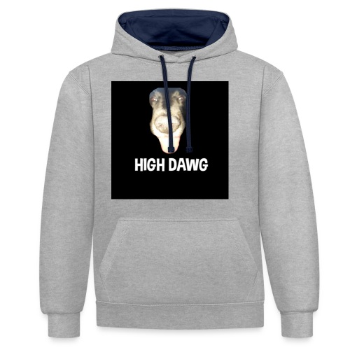 HIGH DAWG - T-Shirt - Kontrast-hettegenser