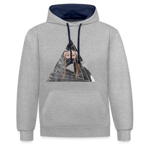 Snow Girl Triangle Graphic Design - Kontrast-Hoodie