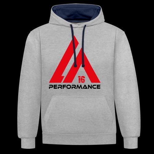 LA Performance red/black - Kontrast-Hoodie