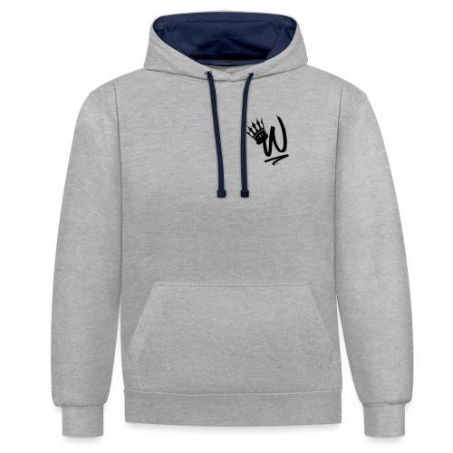 ItzWilz Official White T-Shirt - Contrast Colour Hoodie