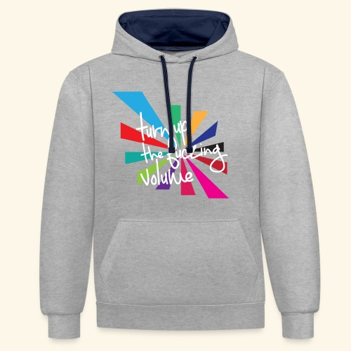 Turn up the volume - Sweat-shirt contraste