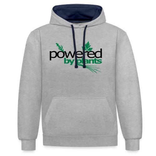 POWERED BY PLANTS - Kontrast-Hoodie