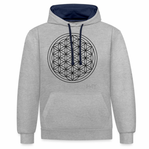 Flower Of Life - This Design Will Heal You - Kontrast-hættetrøje
