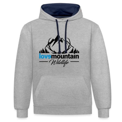 Mountain - Felpa con cappuccio bicromatica
