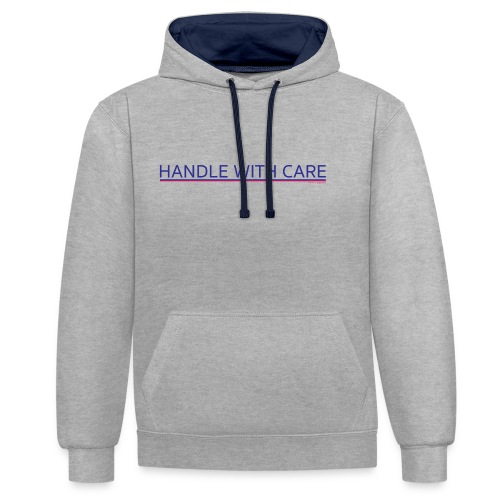To handle with care - Sweat-shirt contraste