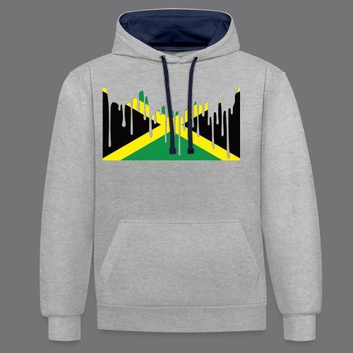 JAMAICAN FLAG Tee Shirts - Contrast Colour Hoodie