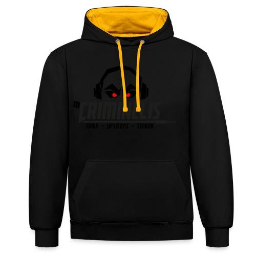 criminelis - Contrast hoodie