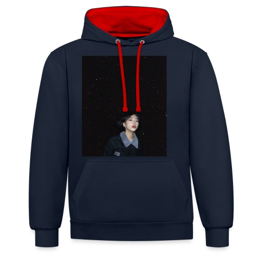 Moon RED - Contrast Colour Hoodie