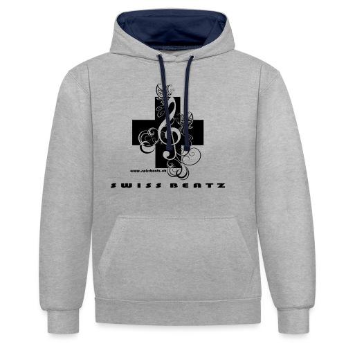 Swiss Beatz Logo with L - Kontrast-Hoodie