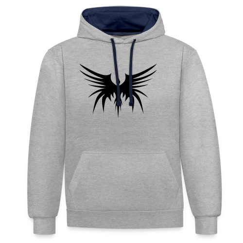 Phoenix Noir - Sweat-shirt contraste