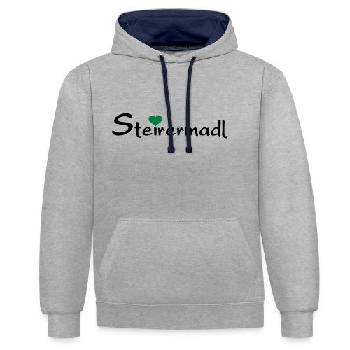 Steirermadl - Kontrast-Hoodie