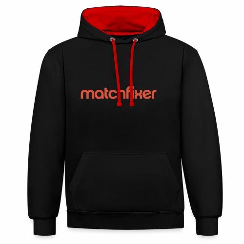 matchfixer - Contrast hoodie