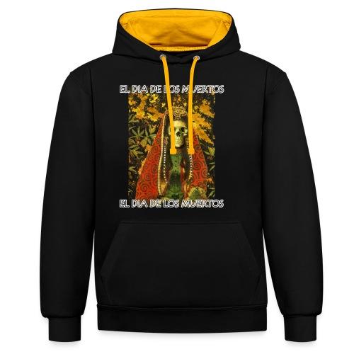 El Dia De Los Muertos Skeleton Design - Contrast Colour Hoodie