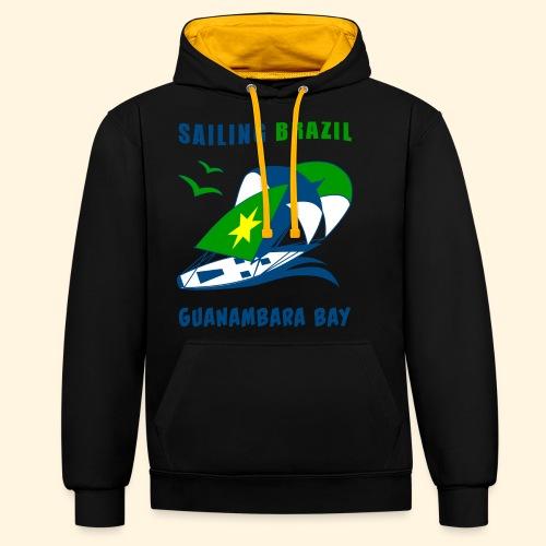 Sailing Brazil - Contrast Colour Hoodie