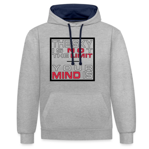 No Limit Mind - Kontrast-Hoodie