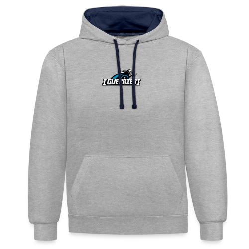 logo sans fond i guerrier - Sweat-shirt contraste