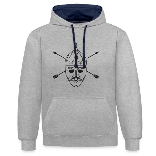 Cuman helmet with arrows - Contrast Colour Hoodie