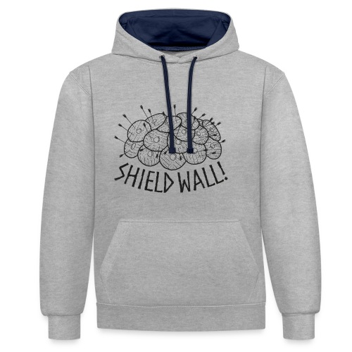 SHIELD WALL! - Contrast Colour Hoodie