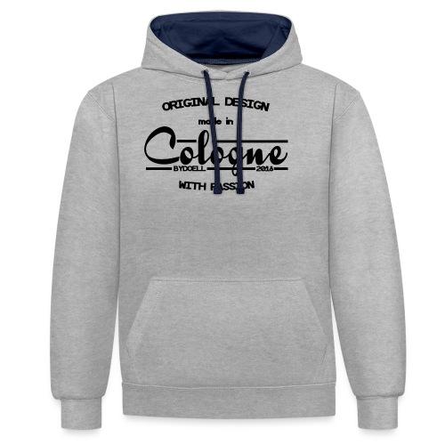 Cologne Original - Schwarz - Kontrast-Hoodie
