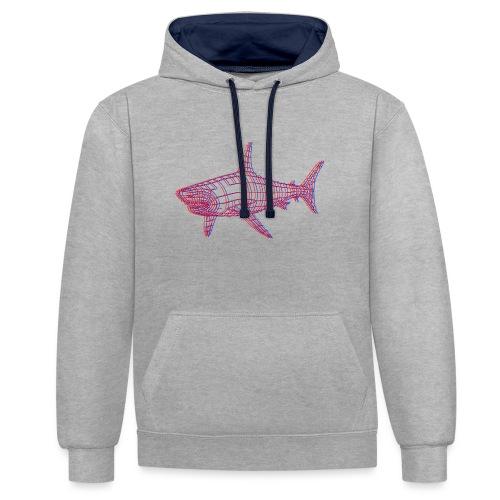Jaws 3D - Sweat-shirt contraste