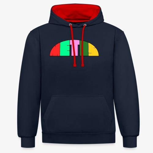 Metis rainbow logo - Contrast Colour Hoodie