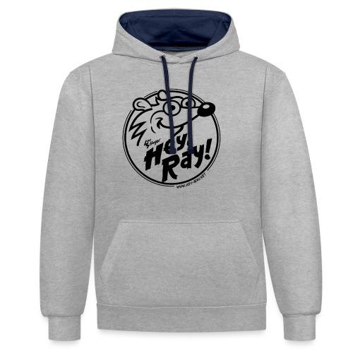 Hey Ray Logo black - Kontrast-Hoodie