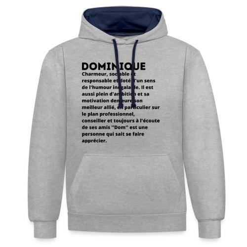 Dominique prénom personnalité - Sweat-shirt contraste