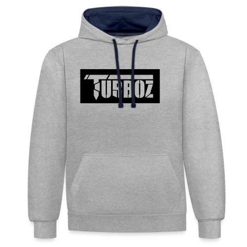 Black Turboz Background - Contrast Colour Hoodie