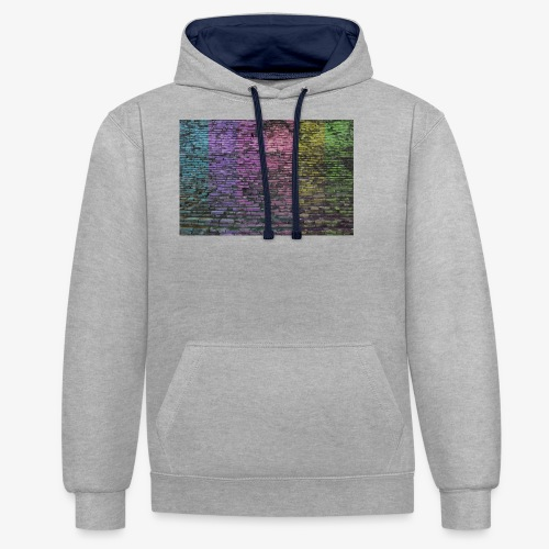 Regenbogenwand - Kontrast-Hoodie