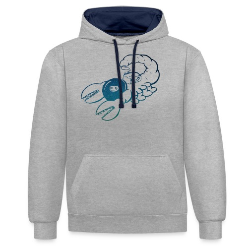 Space Scorpions?! (Stars) - Contrast Colour Hoodie