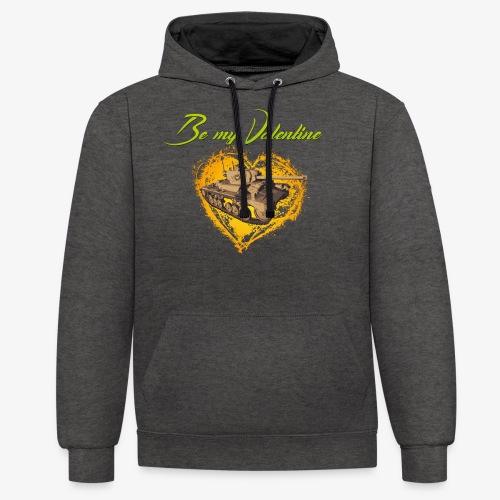 Glowing Valentine Heart - Kontrast-Hoodie