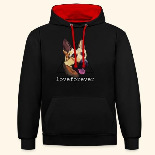 SHEPHERD LOVE FOREVER - Sudadera con capucha en contraste