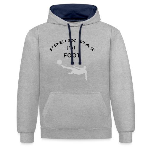 J PEUX PAS J AI FOOT - Sweat-shirt contraste