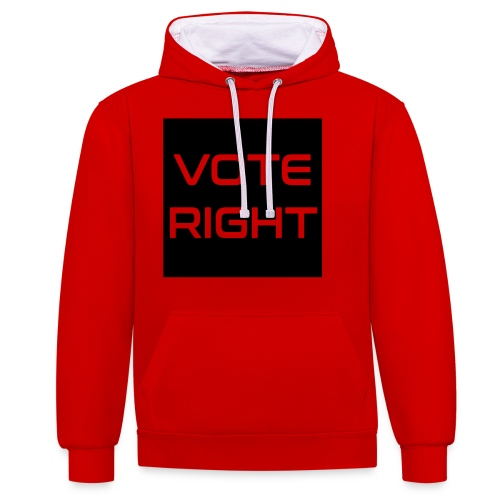 vote right - Kontrast-Hoodie