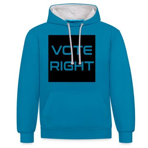 vote right - Kontrast-Hoodie