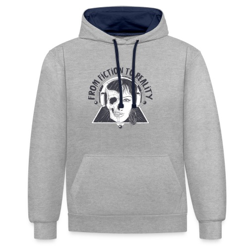 ''From Fiction To Reality'' Merchandise - Contrast hoodie