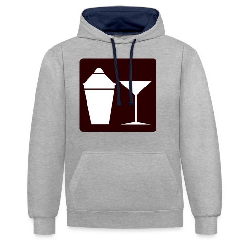 Alkohol - Kontrast-Hoodie