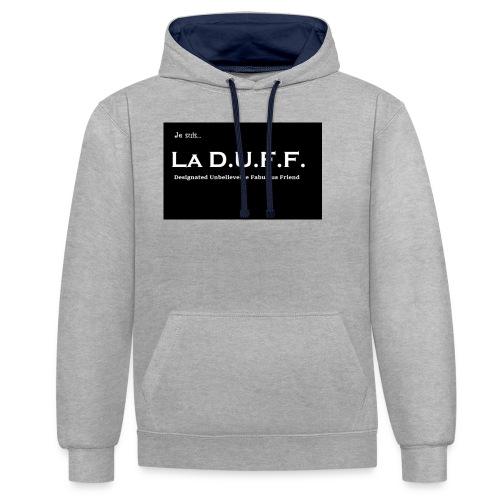Je Suis... La D.U.F.F. - Contrast hoodie